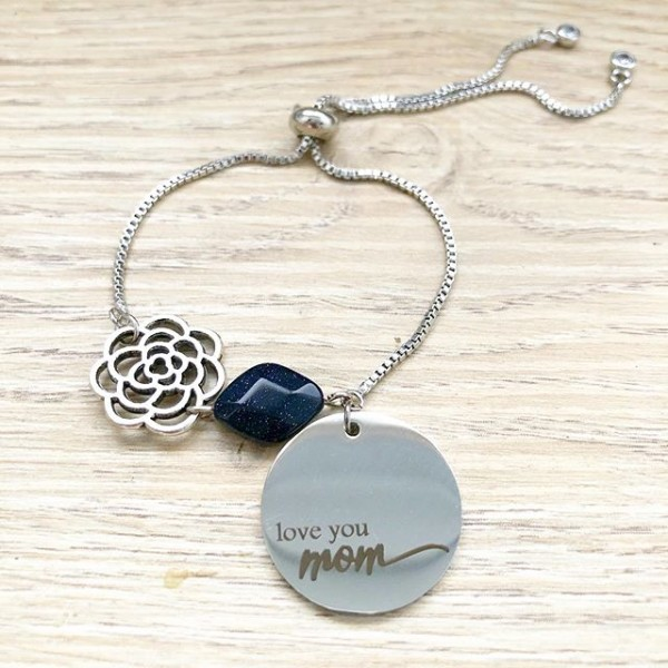 Love Mom Adjustable Bracelet - Diary of a Miniature Enthusiast