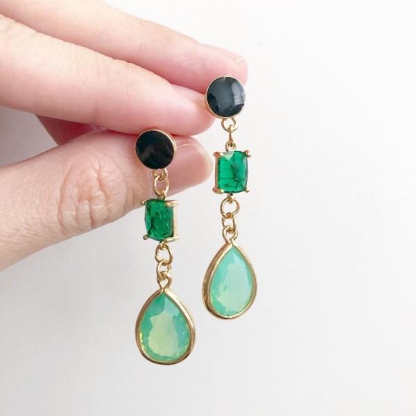 Emerald Lane Mint Teardrop Earrings - Diary of a Miniature Enthusiast