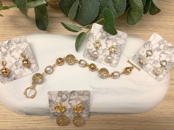 Gold and Silver Floral Bracelet - Diary of a Miniature Enthusiast
