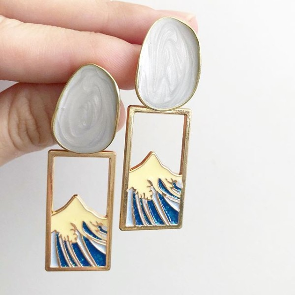 Mt Fuji in a Frame Earrings - Diary of a Miniature Enthusiast