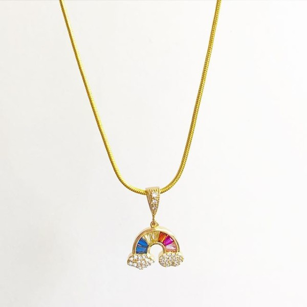 Rainbow CZ Necklace - Diary of a Miniature Enthusiast