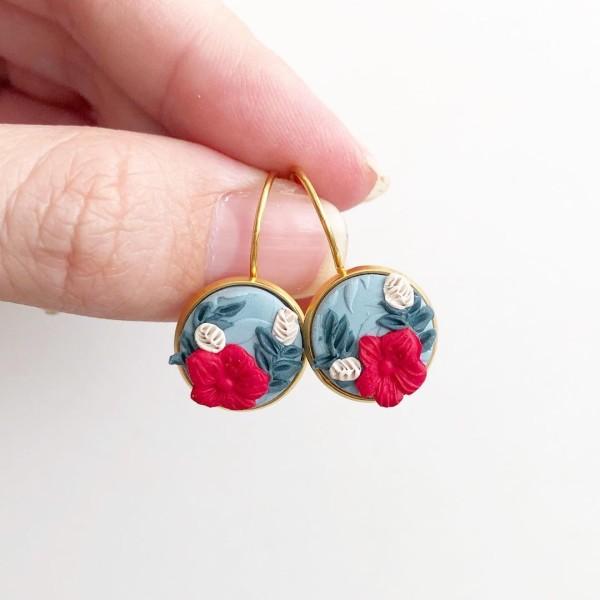 Christmas Cheer Rigid Dangle Earrings - Diary of a Miniature Enthusiast