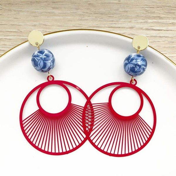 Chinoiserie Chic Grand Earrings - Diary of a Miniature Enthusiast