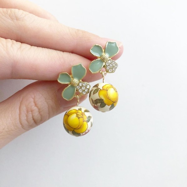 Yellow Rose Floral Earrings - Diary of a Miniature Enthusiast