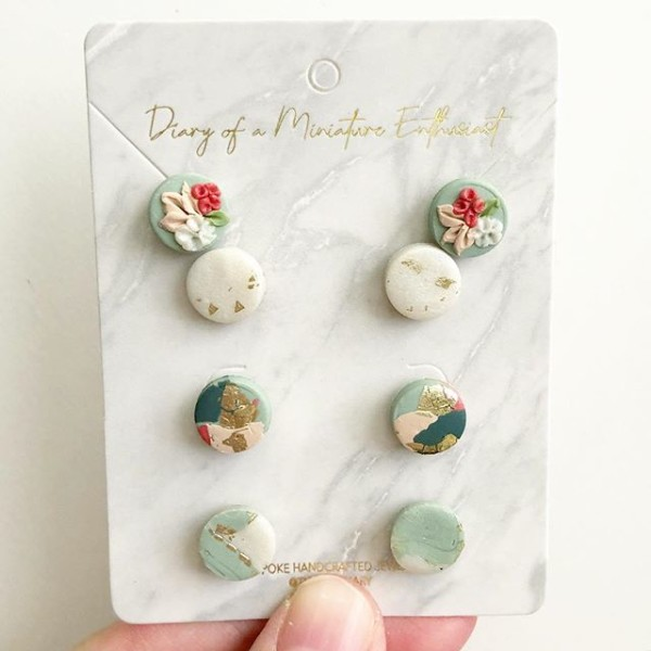 Sage & Serenity 4 Studs/Pack Earrings - Diary of a Miniature Enthusiast