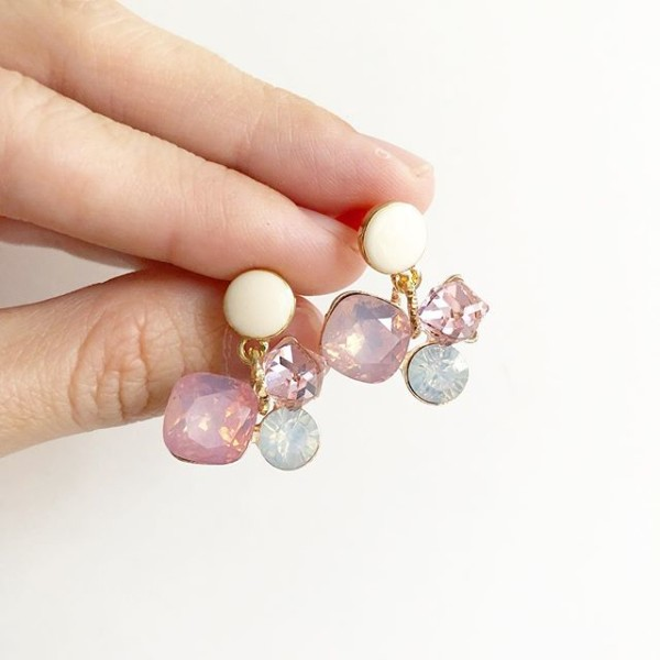 Pink Diamond Earrings - Diary of a Miniature Enthusiast