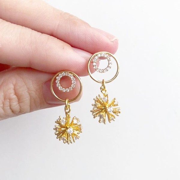 Glitter Elegance Earrings No.2 - Diary of a Miniature Enthusiast