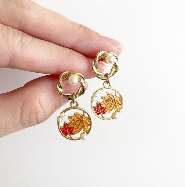 Gold Floral with Pearls Earrings - Diary of a Miniature Enthusiast