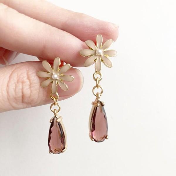 Precious Light Burgundy Teardrop Earrings - Diary of a Miniature Enthusiast