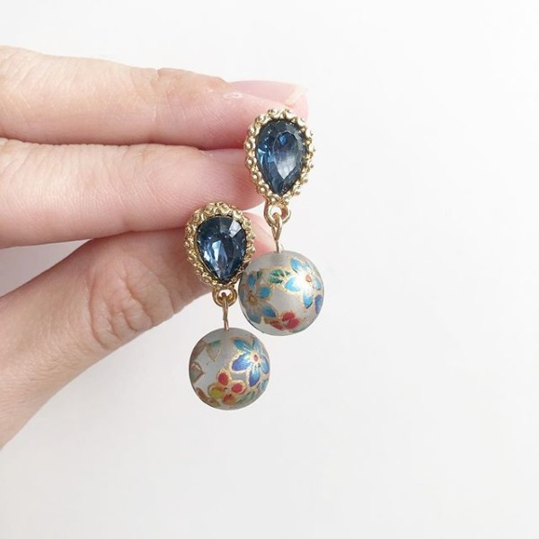 Frosted Blue Bellflower Earrings - Diary of a Miniature Enthusiast