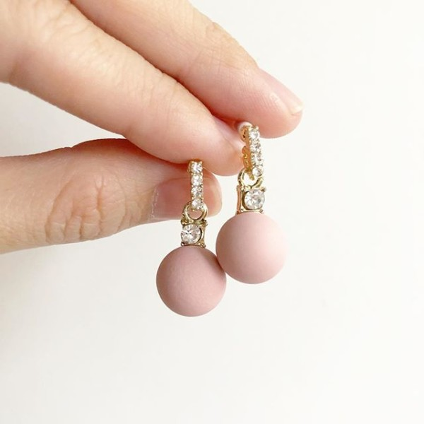 Pink and Diamond Earrings - Diary of a Miniature Enthusiast