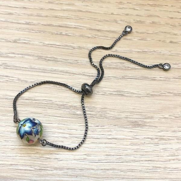 Blue Lillies Bracelet - Diary of a Miniature Enthusiast