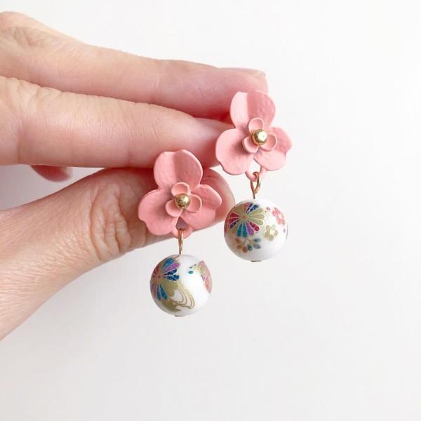 White Kimono Floral Studs - Diary of a Miniature Enthusiast