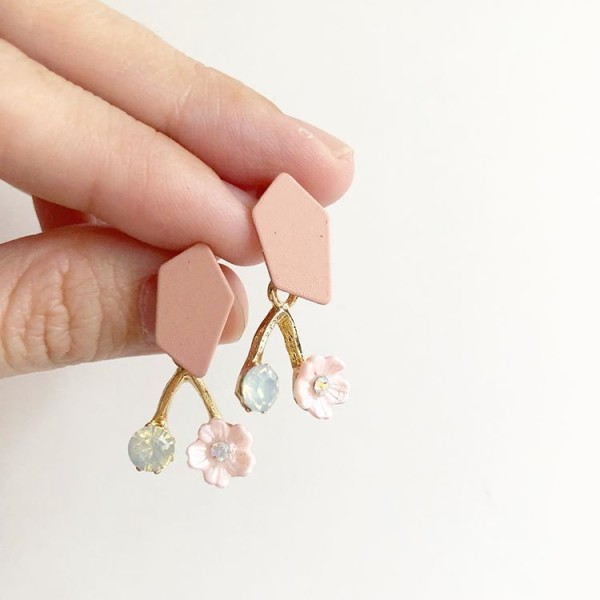 Pink and Floral Earrings - Diary of a Miniature Enthusiast