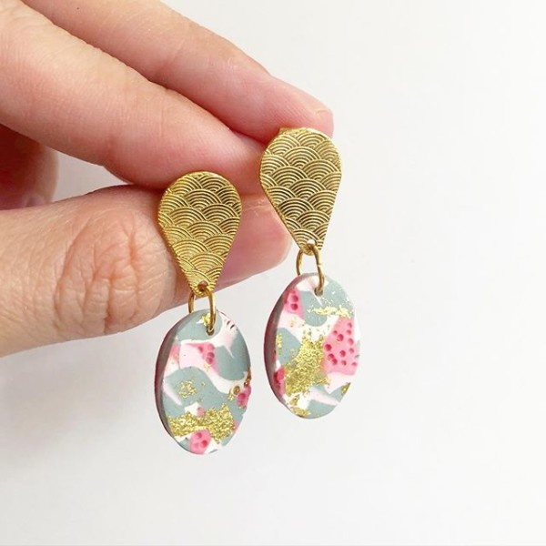 The Pastel Meadows Seigaha Earrings - Diary of a Miniature Enthusiast