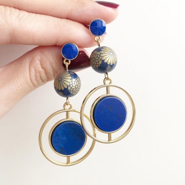 Royal Blue Statement Earrings - Diary of a Miniature Enthusiast