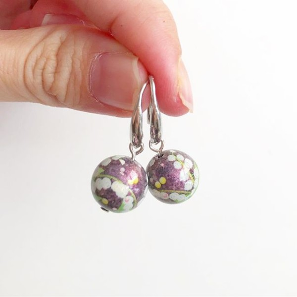 Purple Floral Earrings - Diary of a Miniature Enthusiast