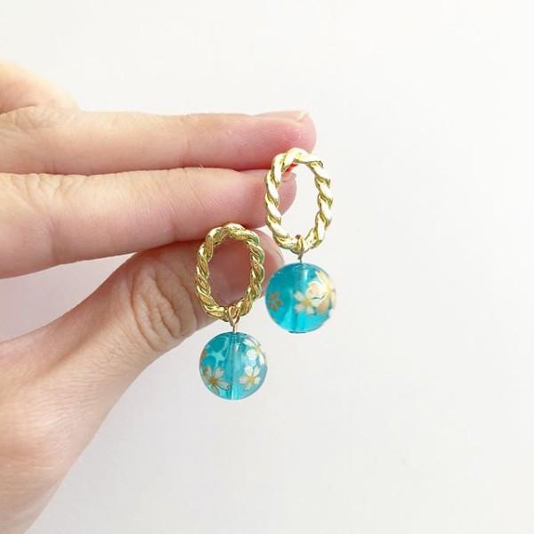 Floating Sakura Earrings - Diary of a Miniature Enthusiast