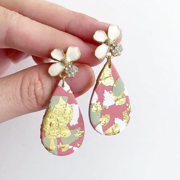 Ikebana III Abstract Teardrop Earrings - Diary of a Miniature Enthusiast