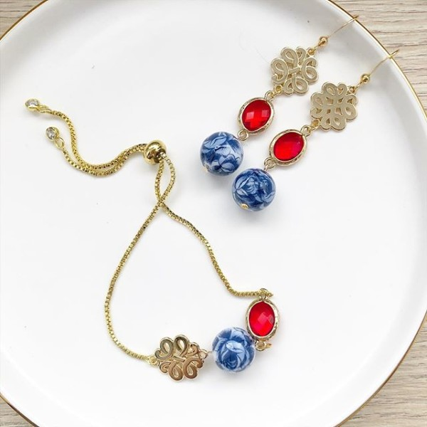 Chinoiserie Chinese Knot Adjustable Bracelet Only - Diary of a Miniature Enthusiast