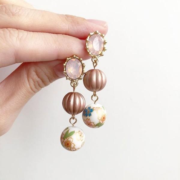 Pink Blush Sakura Earrings - Diary of a Miniature Enthusiast