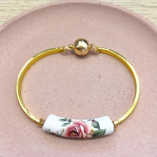 Classic Rose Garden Flexible Bangle - Diary of a Miniature Enthusiast