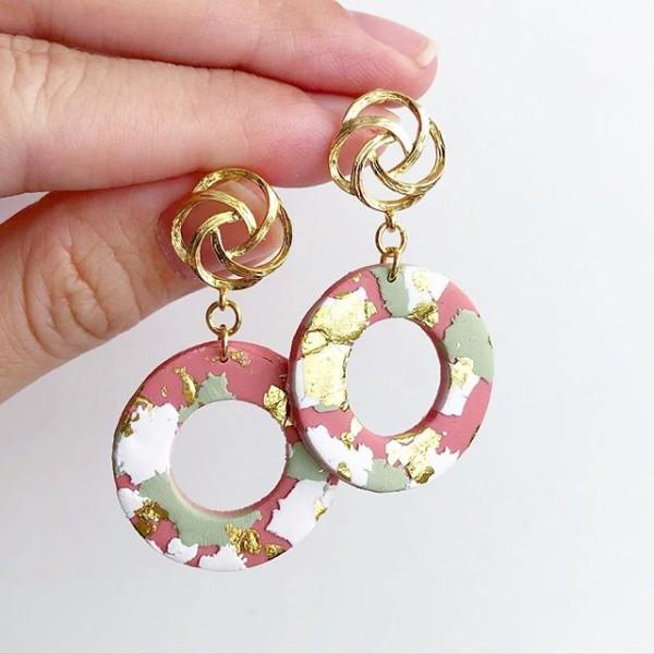 Ikebana III Hollow Loop Earrings - Diary of a Miniature Enthusiast
