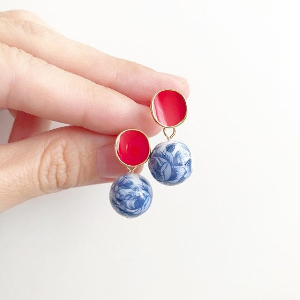 Chinoiserie Chic Plain Studs - Diary of a Miniature Enthusiast