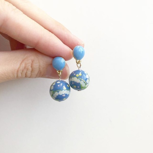 Pastel Blue Bellflowers Earrings - Diary of a Miniature Enthusiast