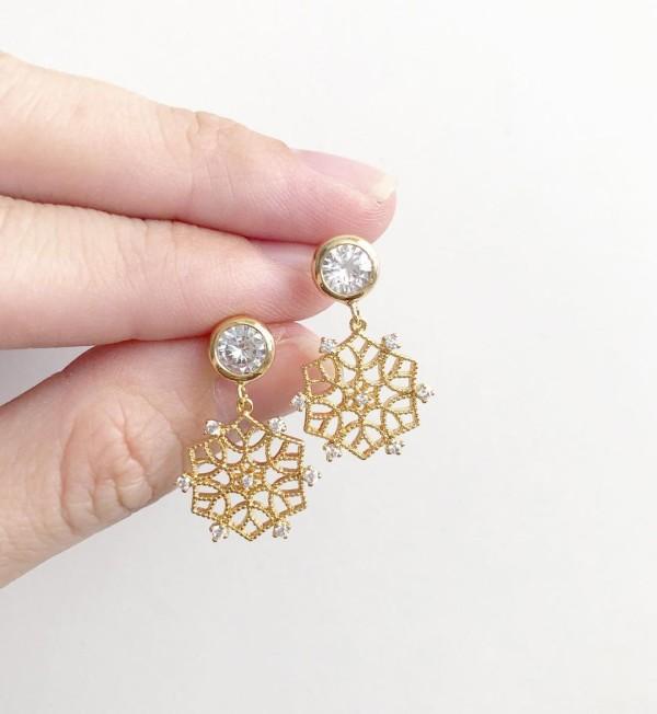 Snowflake III Cubic Zirconia Earrings - Diary of a Miniature Enthusiast