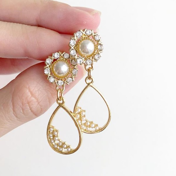 Gold with Pearls Earrings - Diary of a Miniature Enthusiast