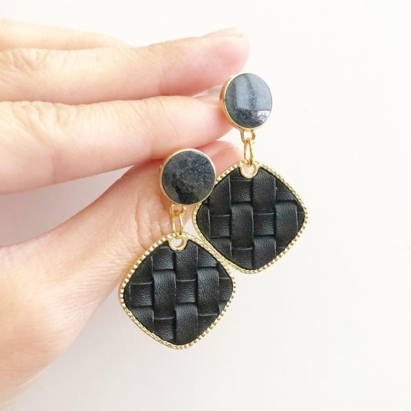 Black Leather Earrings - Diary of a Miniature Enthusiast