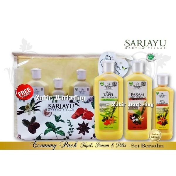 Sariayu Set Habis Bersalin Economy Pack (Tapel, Pilis & Param)  - Jamumall.com