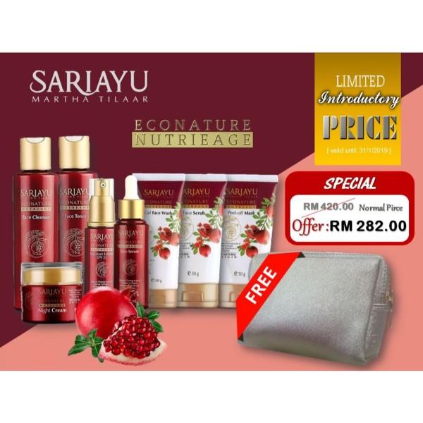 Sariayu Econature Nutrieage Complete Skin Care Set FREE POUCH - Jamumall.com