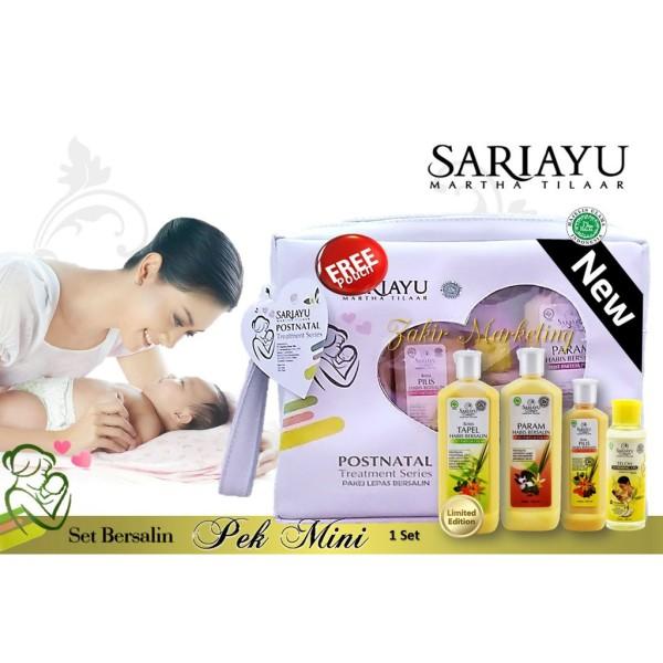 Sariayu Set Bersalin A Mini Pek (Tapel, Pilis, Param, Minyak Telo - Jamumall.com