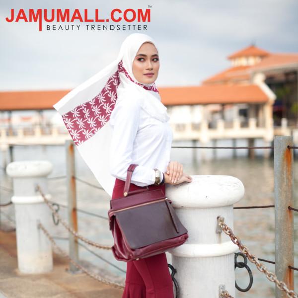 Maroon Palm - Scarf Secret by Jamumall - Jamumall.com