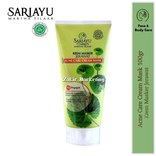 Sariayu Acne Care Cream Mask (Krem Masker Jerawat) 100GR - Jamumall.com