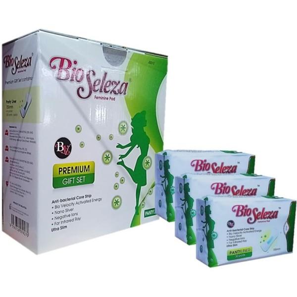 BIO SELEZA Feminine Pad Premium Gift Set Pantiliner (1 Box @6 Pac - Jamumall.com