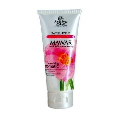 Sariayu Rose Face Scrub (Krem Penghalus Wajah Mawar) - Jamumall.com