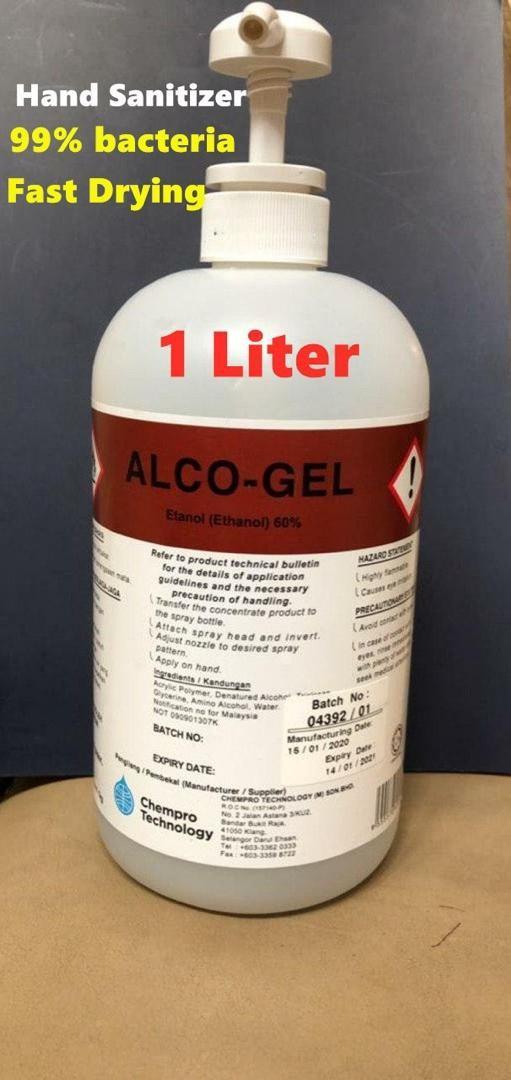 AFFILIATE - Alco Gel Sanitizer (1 Liter) + FREE Anti Bacteria Soa - Jamumall.com