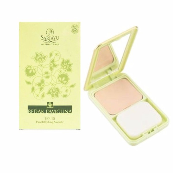 Sariayu Two Way Cake SPF15 Plus Refreshing Aromatic 12GR - Jamumall.com