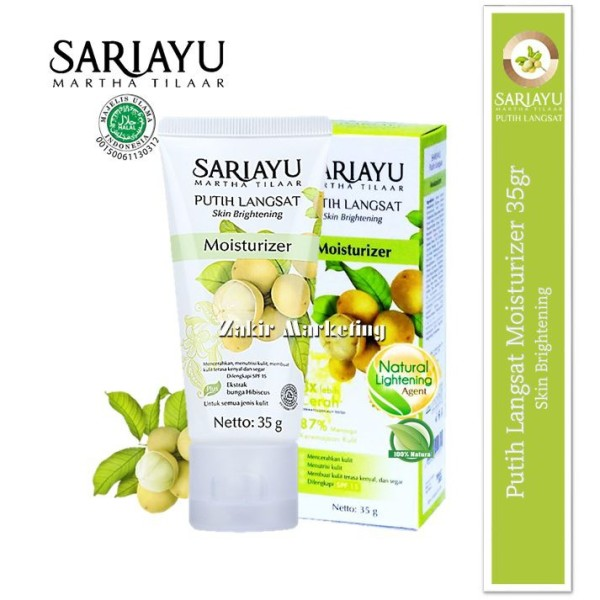 Sariayu Putih Langsat Skin Brightening Moisturizer 35GR - Jamumall.com