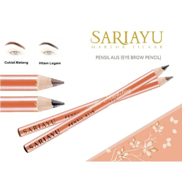 Sariayu Pensil Alis (Eye Brow Pencil) 1.30gr - Hitam(Black) - Jamumall.com