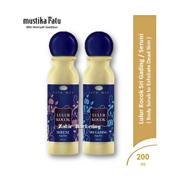 Mustika Ratu Lulur Kocok Seri Seruni / Seri Gading 200ML - Jamumall.com