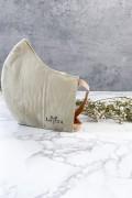 Beige Cotton Face Mask with Pocket Filter - LAVENT