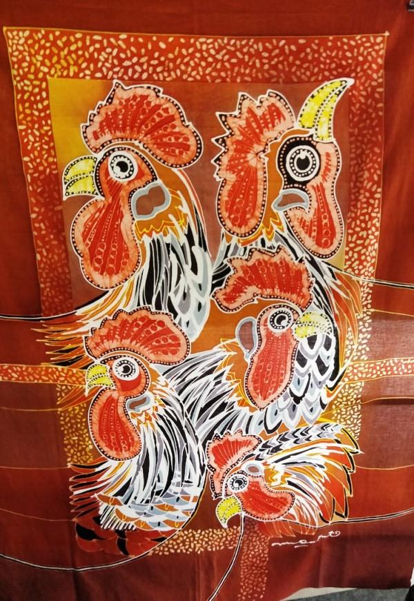 Lukisan seni tangan canves/Fine art canves design chicken - kugpis.my
