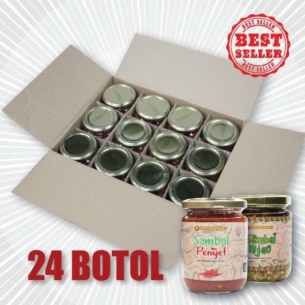 Sambal Penyet & Hijau (24 Botol) - Penyet Mall