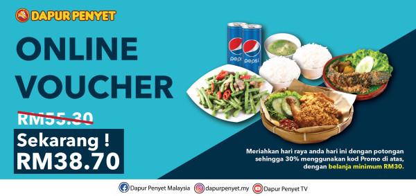 Online Voucher Combo 1 - Penyet Mall