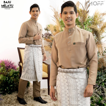 BAJU MELAYU MODEN DUSTY PURPLE - moff collection