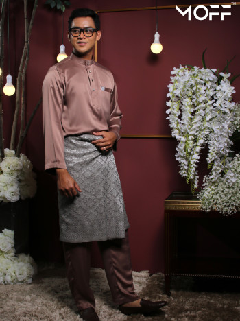 BAJU MELAYU DUSTY PINK - moff collection